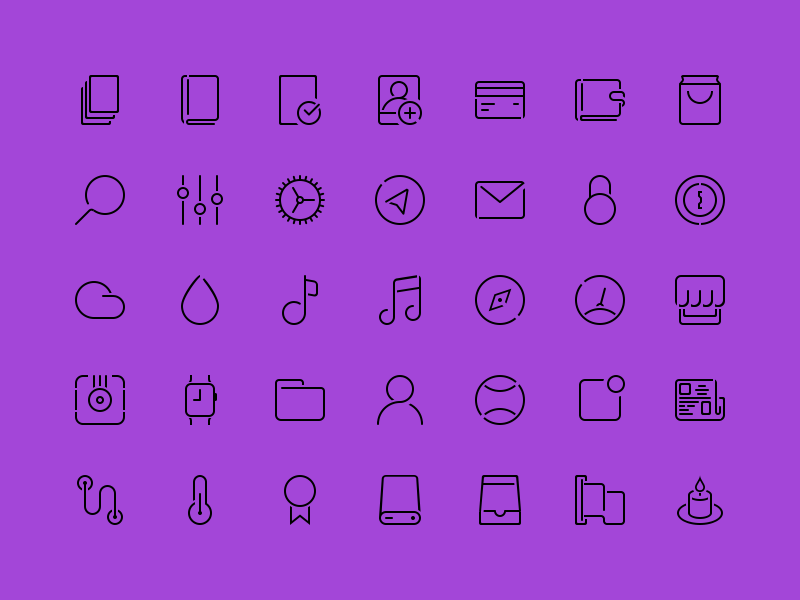 Stroke icons by creatiVe5