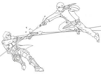 Shackle Vs. Gun Wraith Ver. 2 by Kagehiisa