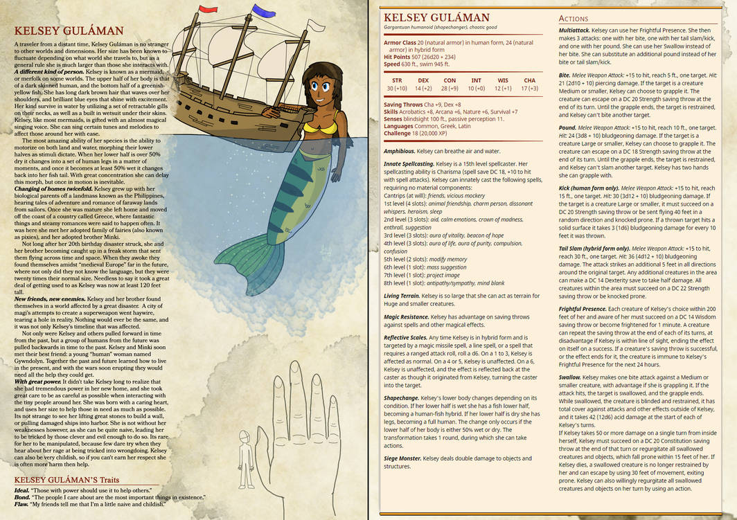 Kelsey: Dungeons and Dragons 5e