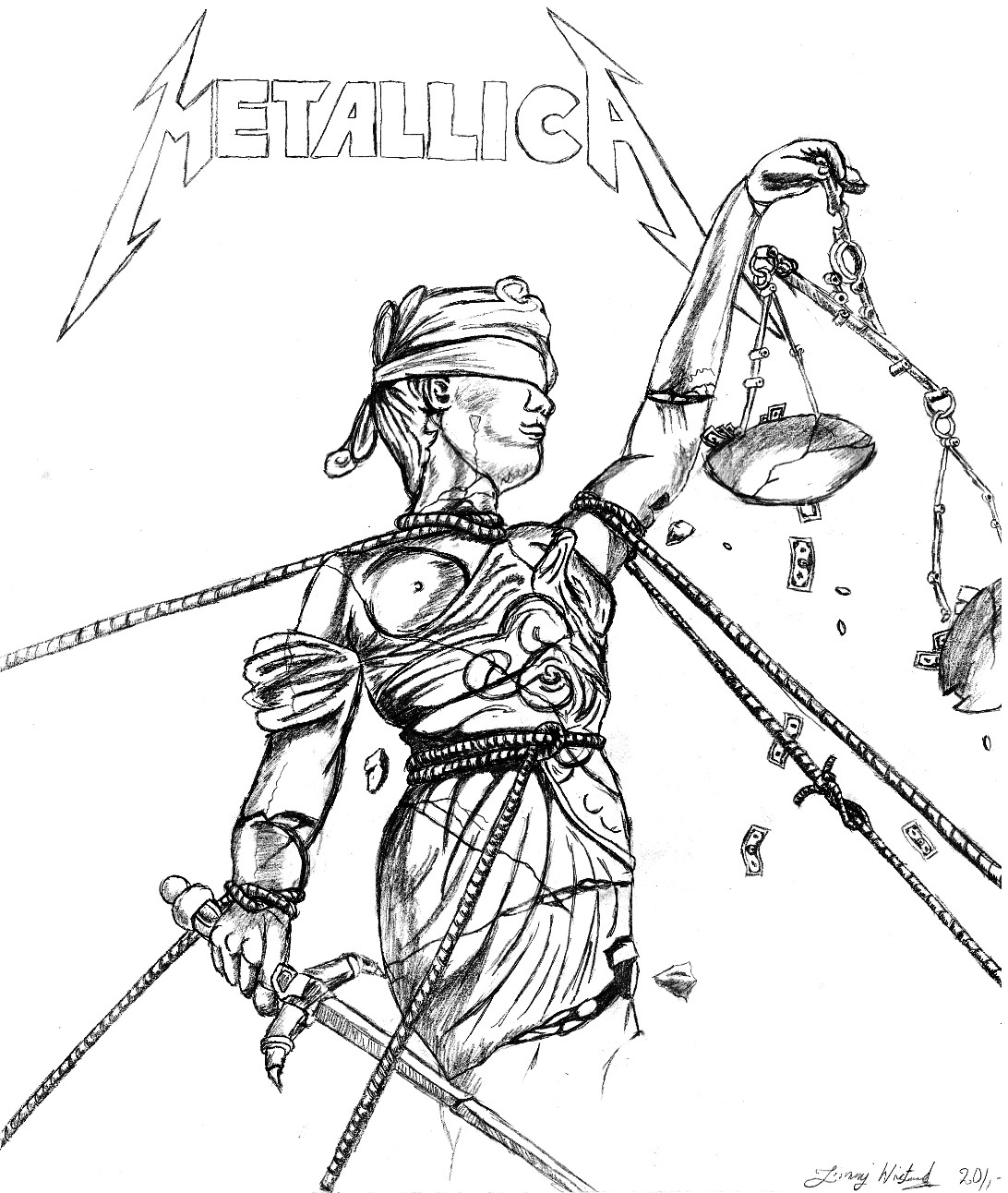 And justice for all by jimmpan on deviantart Coloring book album cover