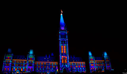 Northern Lights at Parliament by OwlFeatherPhotos