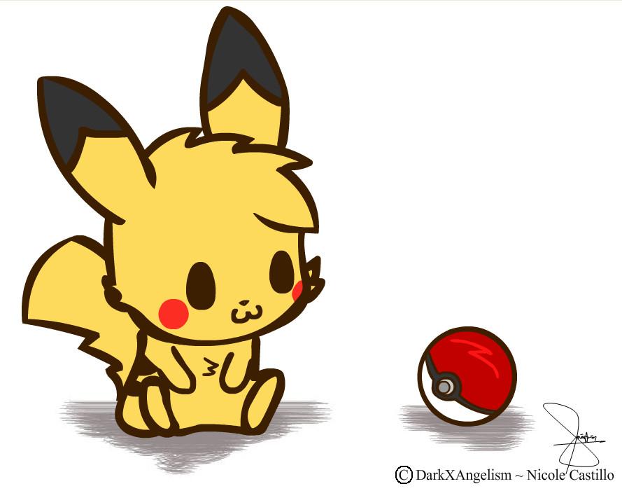 chibi pikachu by darkxangelism