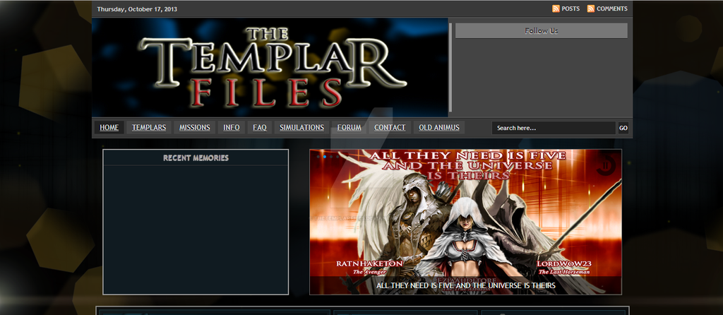 The Templar Files Animus 3.0 Era by TheTemplarFiles