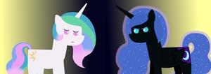 Nightmare Moon and Celestia