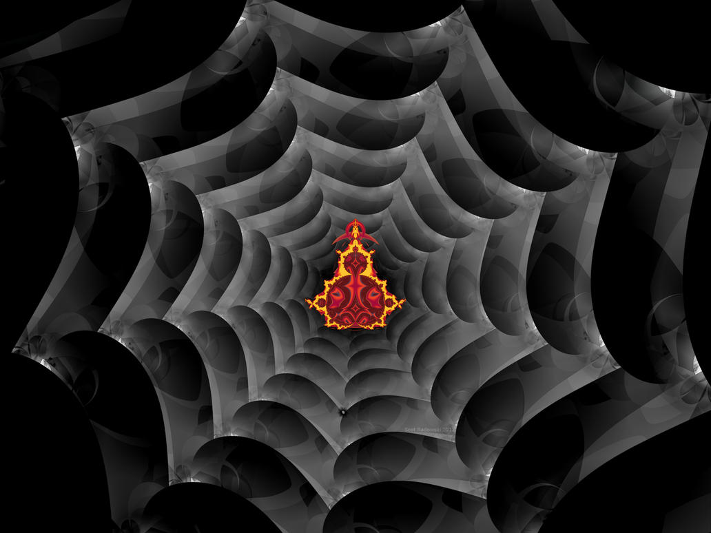 Web And Spider by fractalfiend