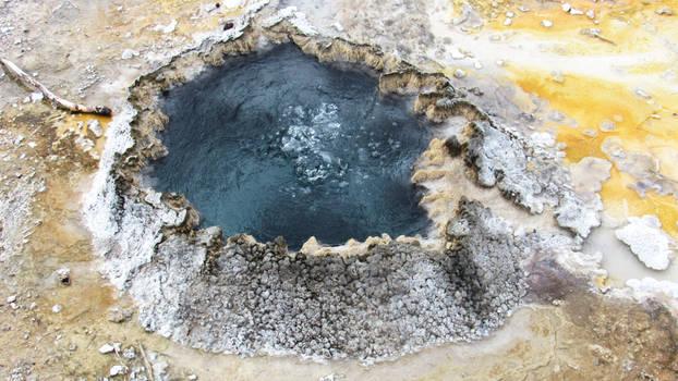 Small Geyser Near Old Faithful - Yellowstone