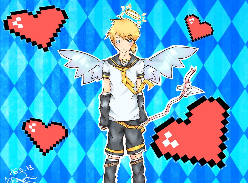 Rin And Len Kagamine Electric Angel Len Kagamine Electric Angel