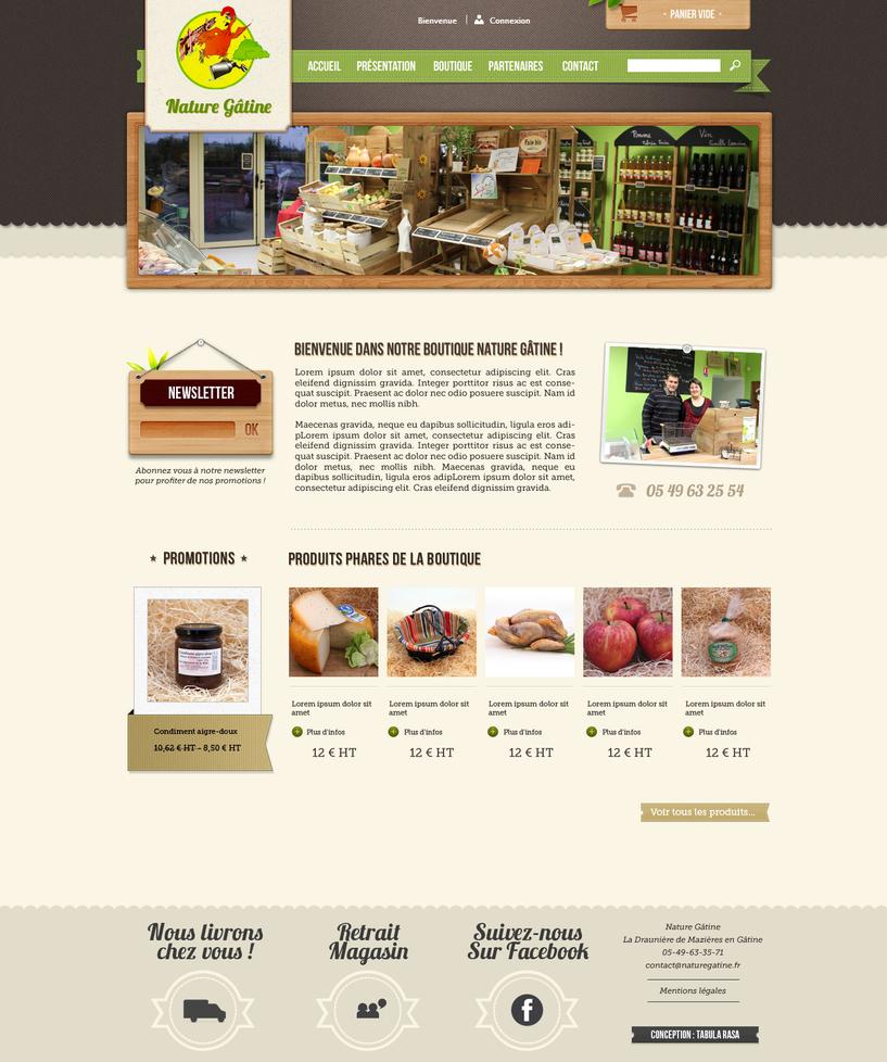 Nature gatine Website by TabulaRasaStudio