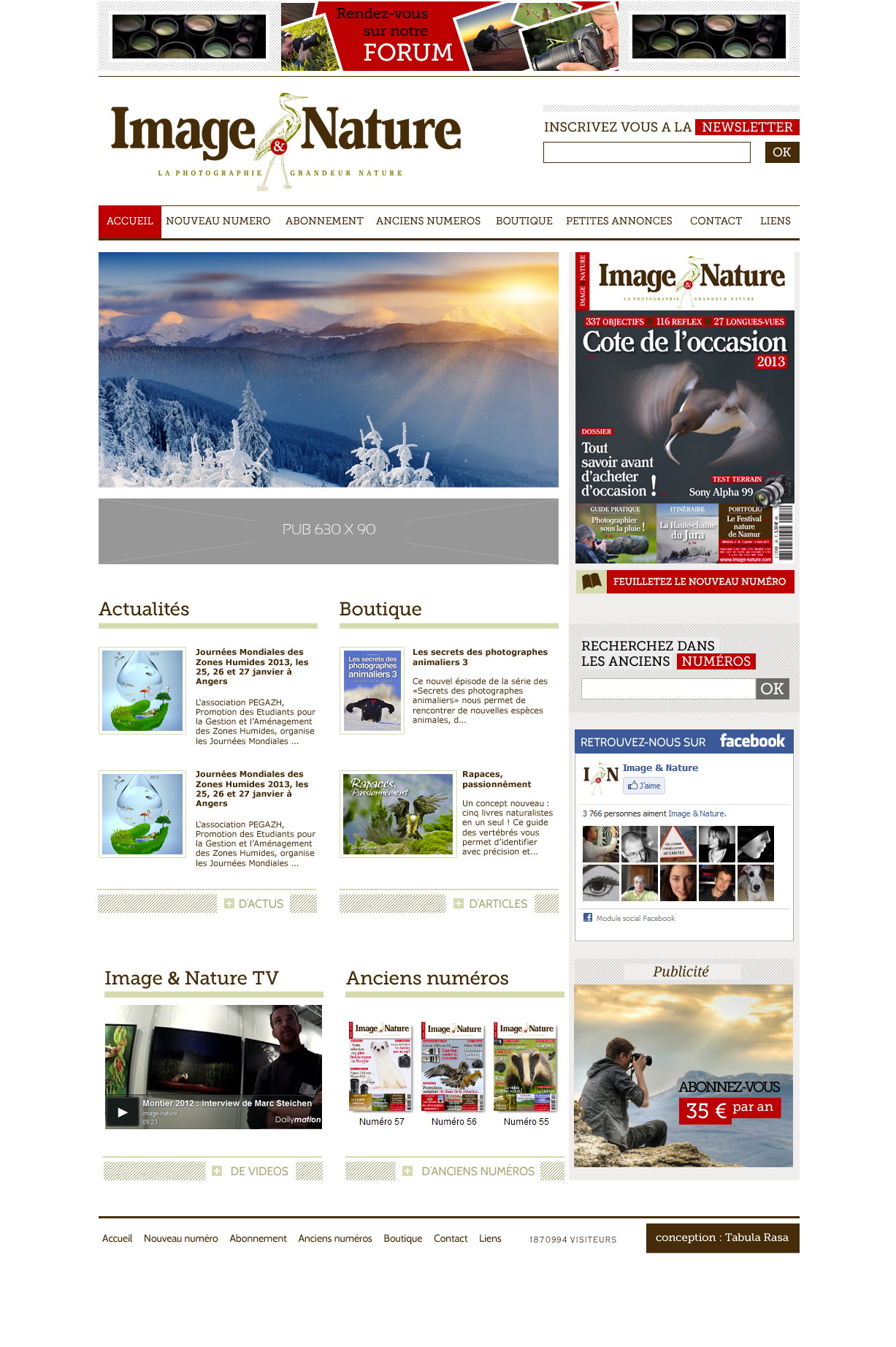 Image et Nature Layout