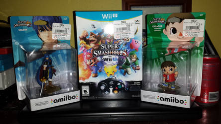Super Smash Bros. for Wii U bundle + 2 Amiibo by AuraMaster-Lucario