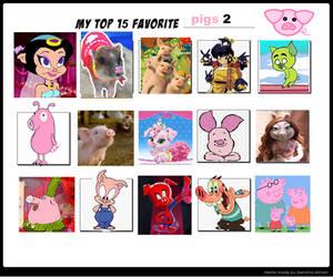 Top 15 Favorite Pigs 2 by purplelion12