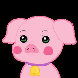 Cute piggy by purplelion12