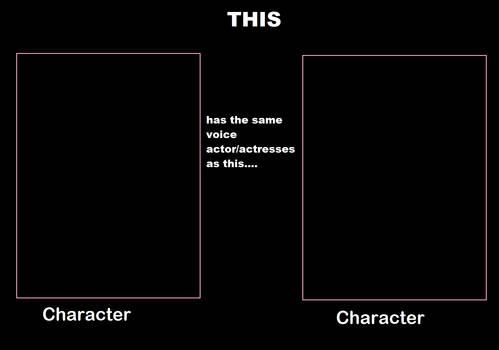 Same Voice actor/actress Meme