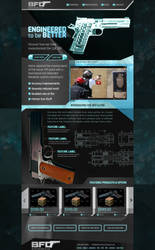 Guns website concept by jansin