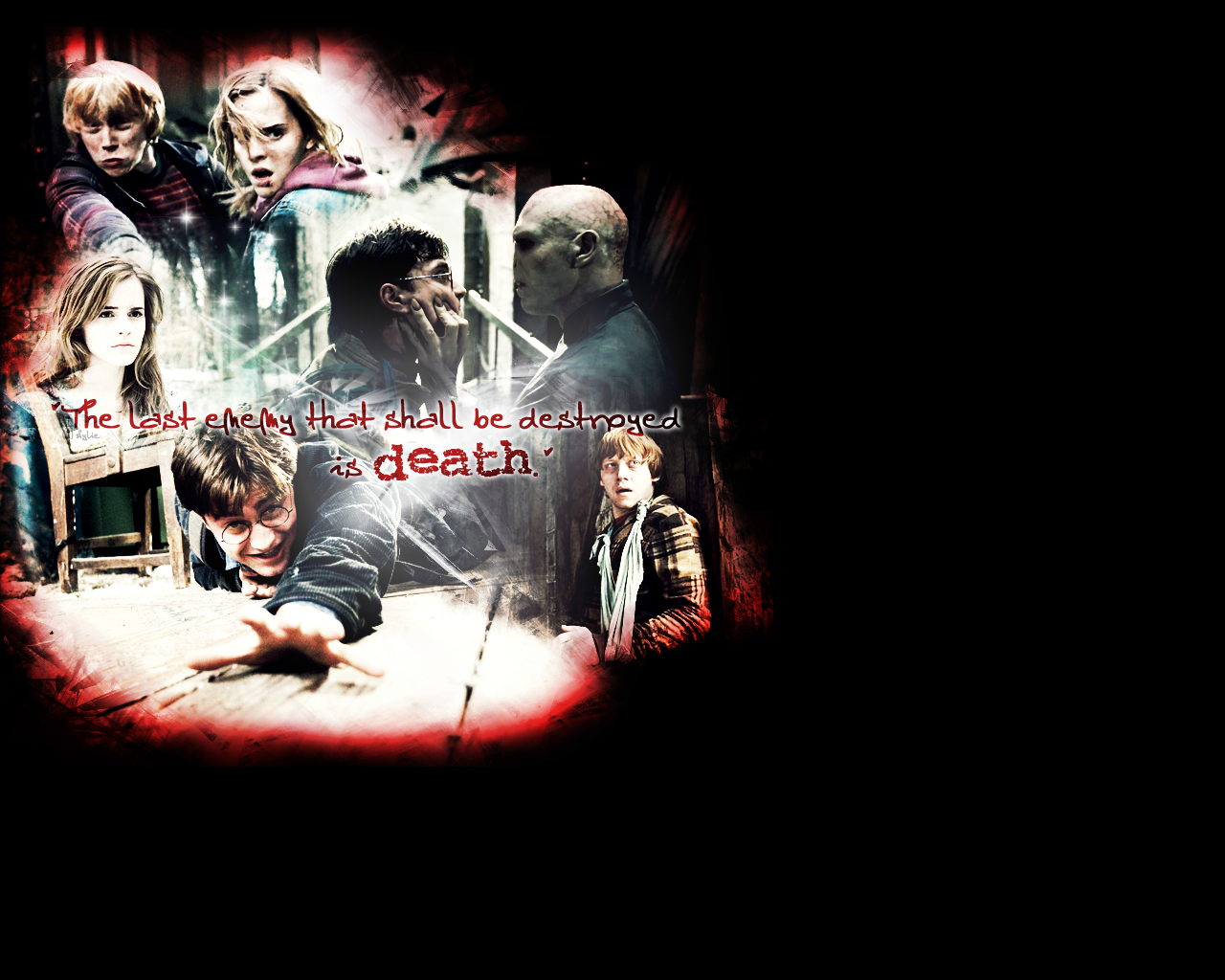 HP Deathly Hallows Wall
