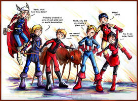 Avengers Mascot by GalacticDustBunnies