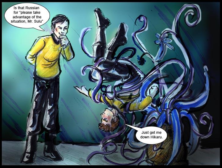 Beware Sulu's Plants by GalacticDustBunnies