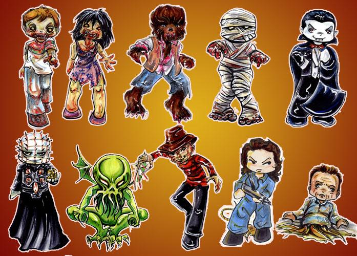 Horror Stickers by GalacticDustBunnies on DeviantArt