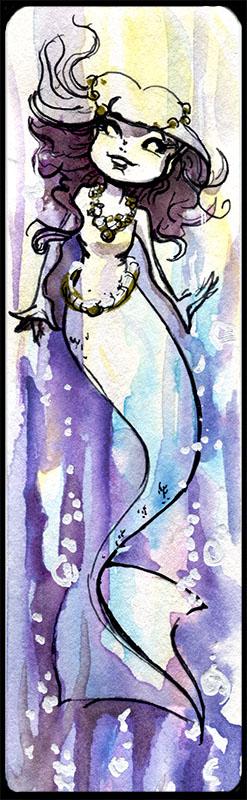 Mermaid Bookmark by GalacticDustBunnies