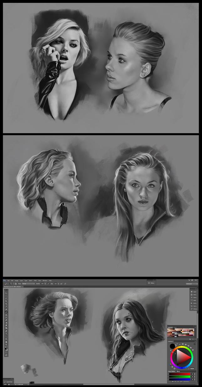 Superheroine Portraits by CraigPaton