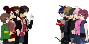 Chara And Sans As Maki Harukawa And Ryoma Hoshi By Devgirl Neko On Deviantart I think that there was a good chance hoshi was ambushed and killed like shuichi's closing argument theorized. sans as maki harukawa and ryoma hoshi