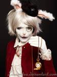 White rabbit Alice wonderland