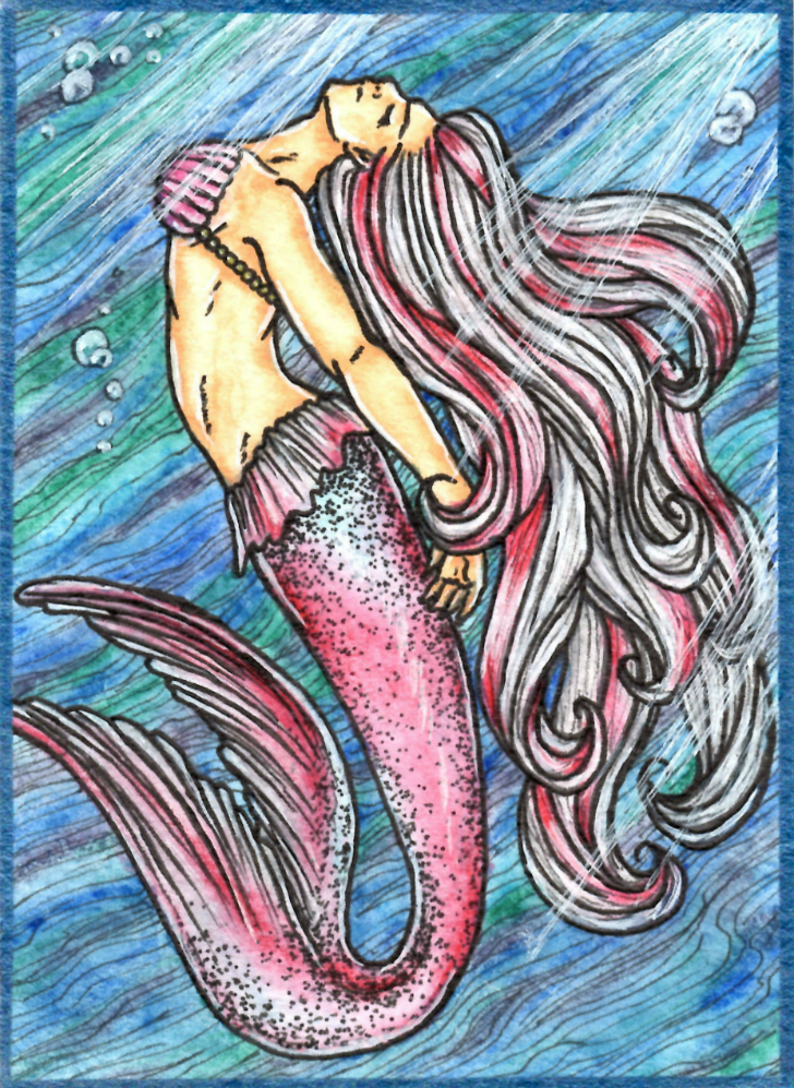 Koi Mermaid - ACEO by ParadoxSketchbook