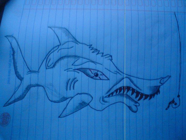 Fish Monster on Paper by YusufSetyoko