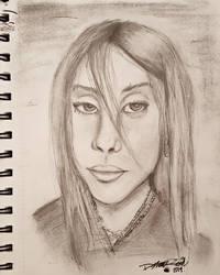 Billie Eilish portrait by DevennaSori