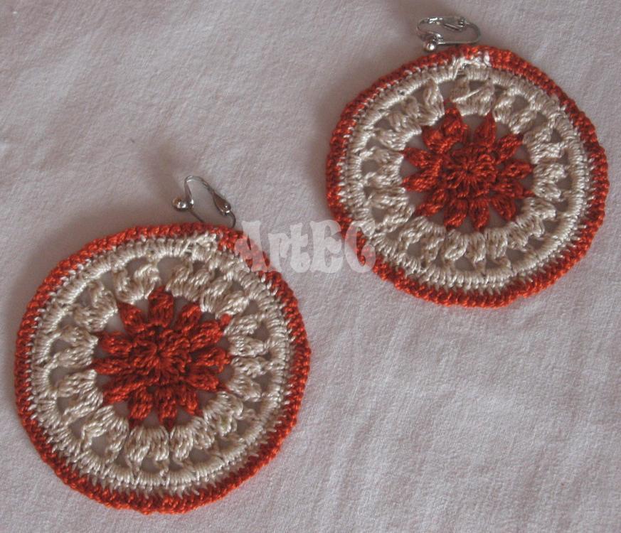 Crochet Earrings by CreazioniArtEC