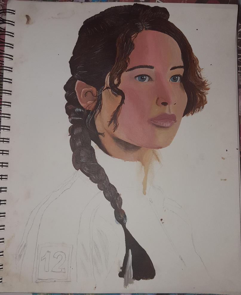 Katniss Everdeen Portrait (WIP)(Commission Info) by MermaidGirlForever