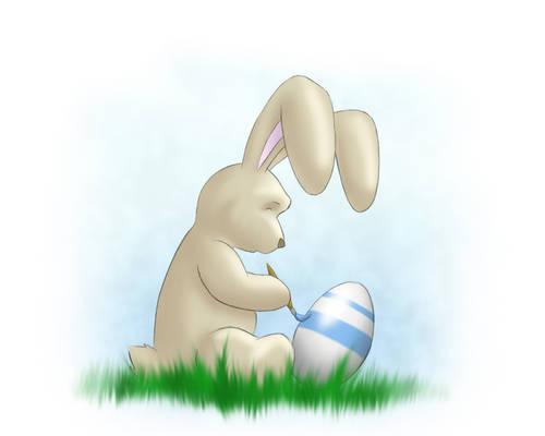 happy cutie easter bunny
