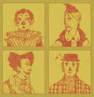 Clown Portraits by Miss-Linna