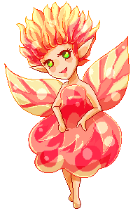 Pixelchallenges: Petal Fairy by Nesmaty