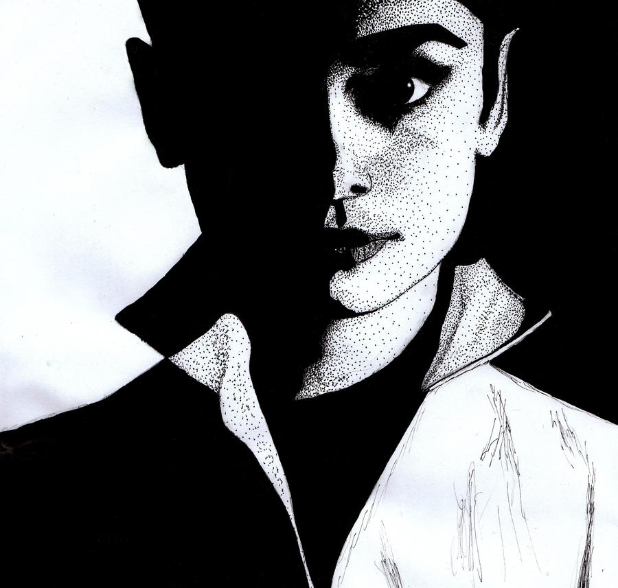 Audrey in shadows by missmagicgirl