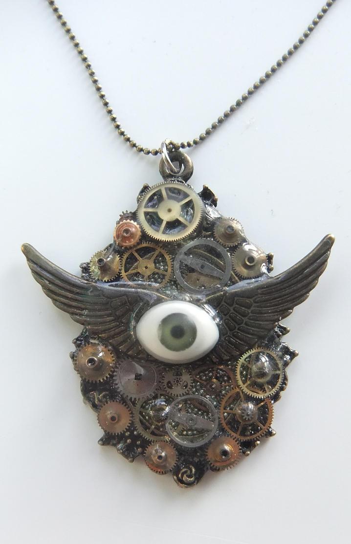 Steampunk pendant by missmagicgirl