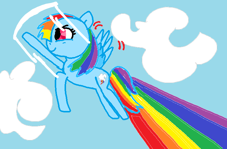 Rainbow Dash - Sonic Rainboom by AllyGal123 on DeviantArt
