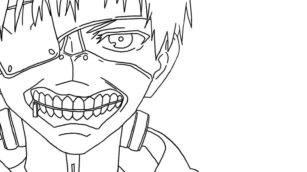 Kaneki Lineart : Kaneki lineart by allygal on deviantart