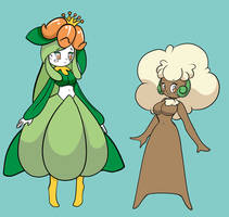 Lilligant and whimsicott by ChompWorks