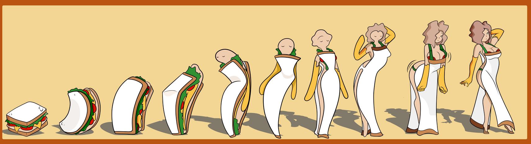 Sandwich To Woman by ChompWorks