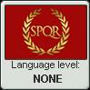 Latin language level NONE
