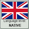 British English language level NATIVE by animeXcaso