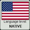 American English language level NATIVE