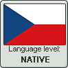Czech language level NATIVE by TheFlagandAnthemGuy