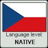 Czech language level NATIVE by TheFlagandAnthemGuy
