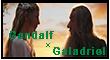 Gandalf x Galadriel stamp by TheFlagandAnthemGuy