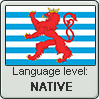 Luxembourgish language level NATIVE by TheFlagandAnthemGuy