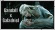 Gandalf x Galadriel new stamp by TheFlagandAnthemGuy