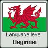 Welsh language level BEGINNER