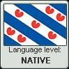 Frisian language level NATIVE by TheFlagandAnthemGuy